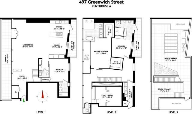 497 Greenwich UnitPHA, New York, 10013, NY - Photo 1 of 19